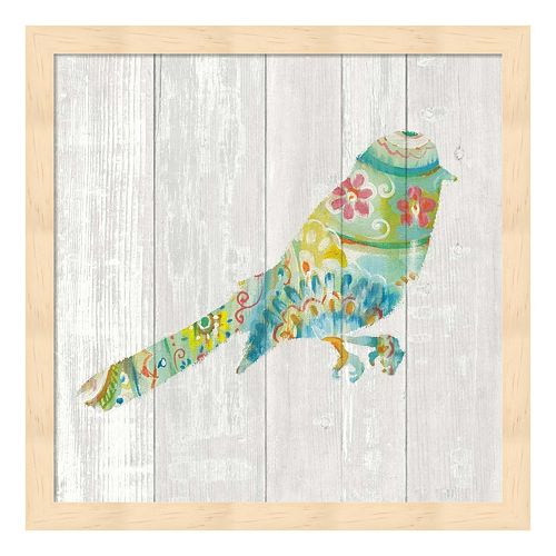 Spring Dream Paisley X Framed Wall Art