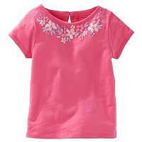 Toddler Girl OshKosh B'gosh® Flower Embellished Jersey Tee