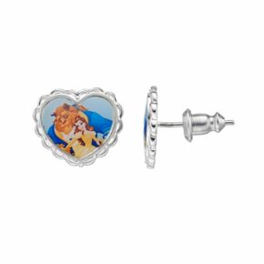 Disney's Beauty and the Beast Kids' Heart Stud Earrings