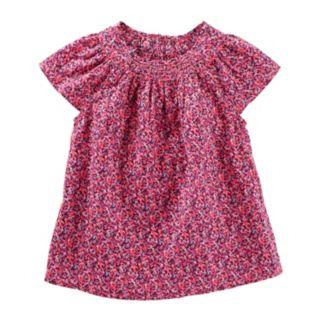 Toddler Girl OshKosh B'gosh® Smocked Flutter Top