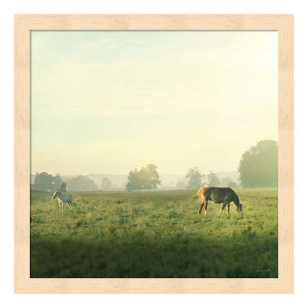 Farm Morning I Framed Wall Art