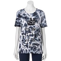 Disney's Pirates of the Caribbean: Dead Men Tell No Tales Juniors' Tie-Dye Graphic Tee