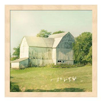 Farm Morning III Framed Wall Art