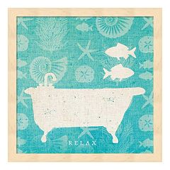 Pacific Bath I Framed Wall Art