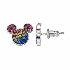 Disney's Mickey Mouse Kids' Crystal Stud Earrings