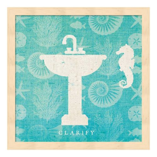 Pacific Bath II Framed Wall Art