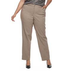 Plus Size Apt. 9® Torie Curvy Straight-Leg Pants