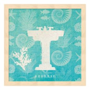 Pacific Bath III Framed Wall Art