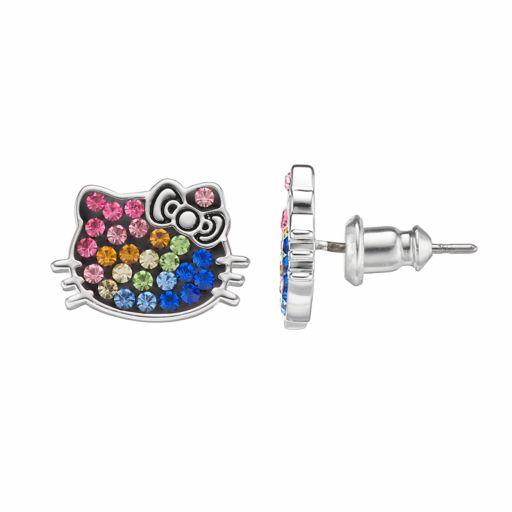 Hello Kitty® Kids' Crystal Stud Earrings