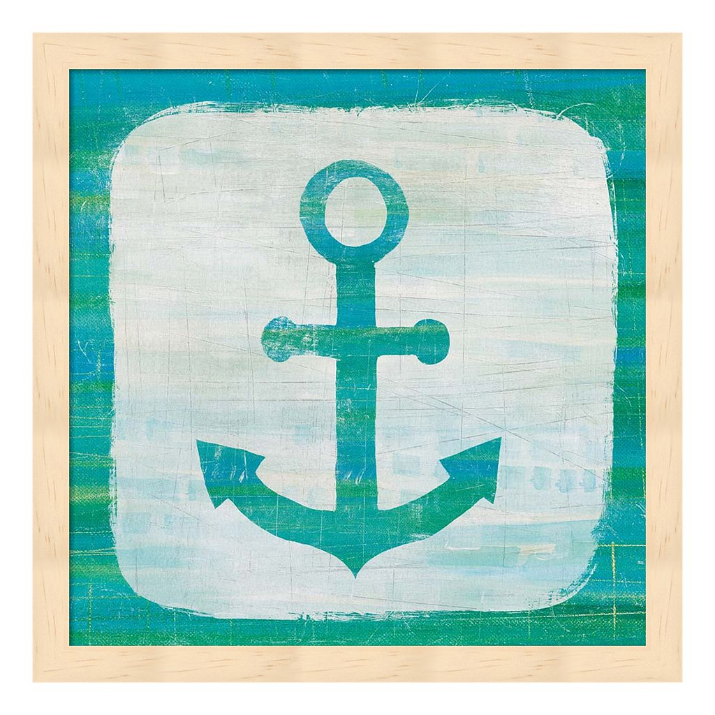 Ahoy III Blue Green Framed Wall Art