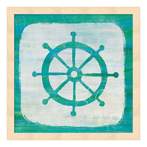 Ahoy IV Blue Green Framed Wall Art