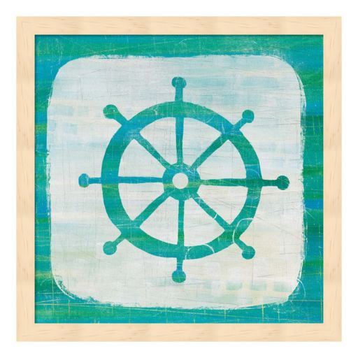 Ahoy IV Blue Green Framed Wall Art