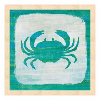 Ahoy V Blue Green Framed Wall Art
