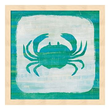 Ahoy V Blue Green Framed Wall Art