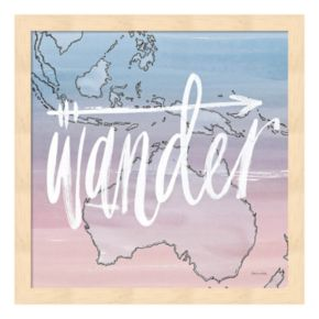"World Traveler ""Wander"" Framed Wall Art"