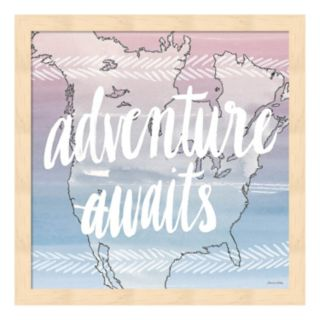 "World Traveler ""Adventure Awaits"" Framed Wall Art"