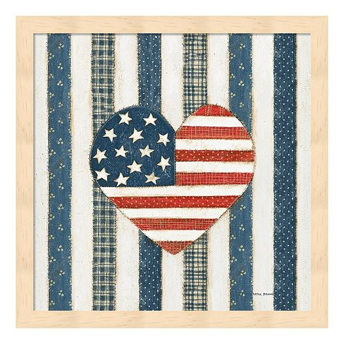 Americana Quilt VI Framed Wall Art