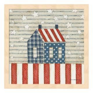 Americana Quilt V Framed Wall Art