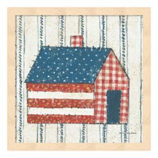 Americana Quilt III Framed Wall Art
