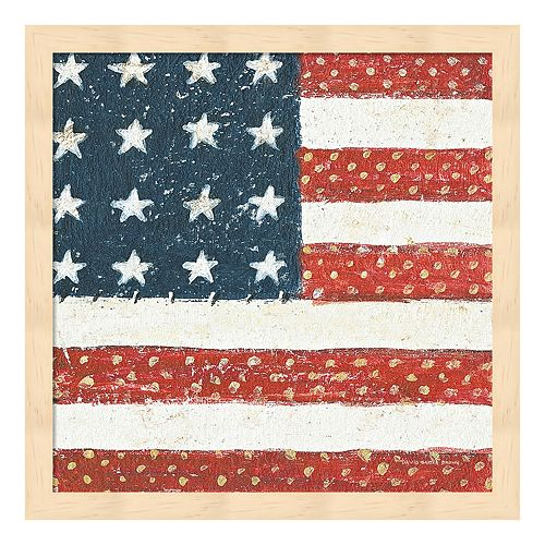 Americana Quilt IV Framed Wall Art
