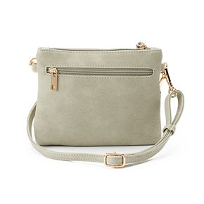 Deluxity Camelia Double Zip Crossbody Bag