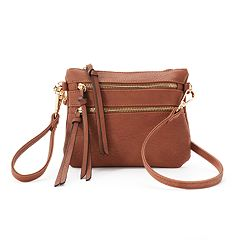Deluxity Camelia Double Zip Crossbody Bag
