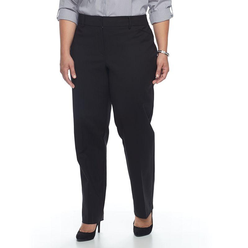 8758106089e Plus Size Apt. 9® Torie Modern Fit Straight-Leg Dress Pants (Black ...