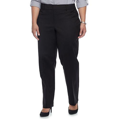 Plus Size Apt. 9® Torie Modern Fit Straight-Leg Dress Pants