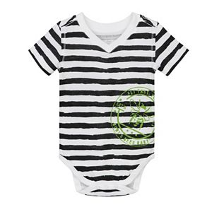 Baby Boy Burt's Bees Baby Organic Striped Bodysuit