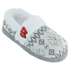 Women's Wisconsin Badgers Snowflake Slippers