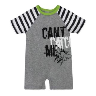 "Baby Boy Burt's Bees Baby Organic ""Can't Catch Me"" Graphic Romper"