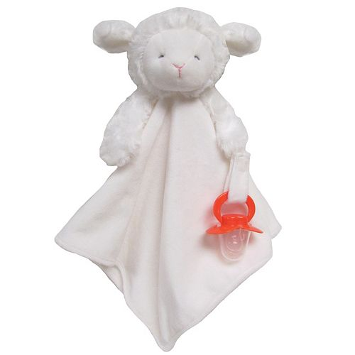 Carter's Lamb Plush Security Blanket with Pacifier Clip