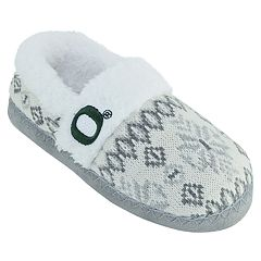 Women's Oregon Ducks Snowflake Slippers