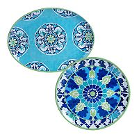 Certified International Grenada 2 pc Platter Set