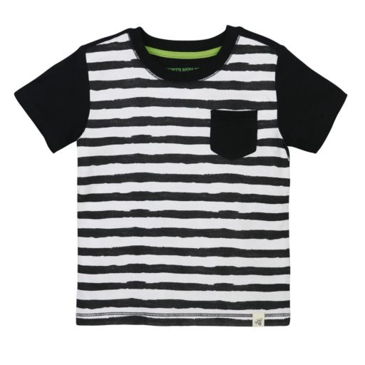 Toddler Boy Burt's Bees Baby Painted Striped Pocket Tee
