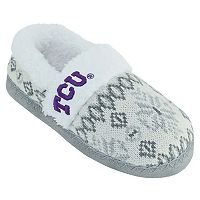 Women's TCU Horned Frogs Snowflake Slippers