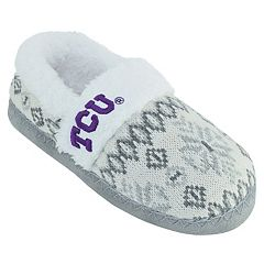 Women's TCU Horned Frogs Snowflake Slippers