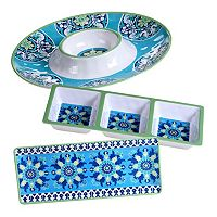 Certified International Grenada 3 pc Hostess Set