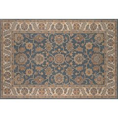 Momeni Tudor Tamur Framed Floral Wool Rug