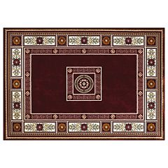 United Weavers Antiquities Framed Floral Rug