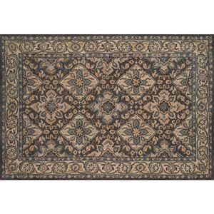 Momeni Tudor Breccan Framed Floral Wool Rug