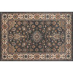 Momeni Tudor Ewan Framed Floral Wool Rug