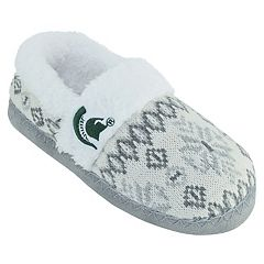 Women's Michigan State Spartans Snowflake Slippers