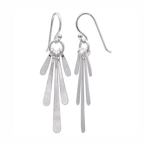 PRIMROSE Sterling Silver Paddle Drop Earrings