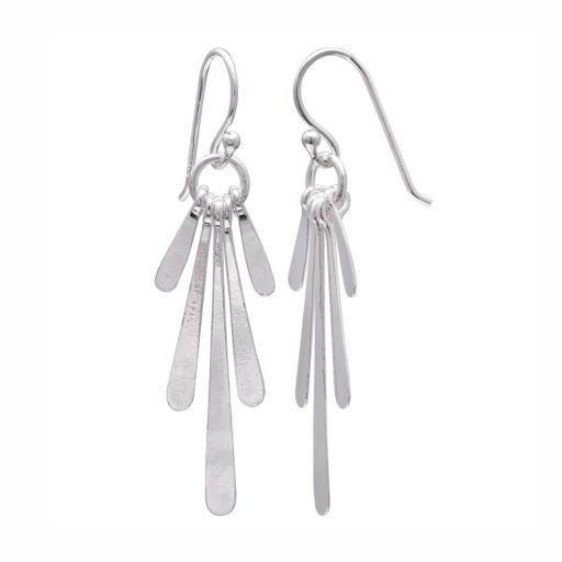 PRIMROSE Sterling Silver Paddle Drop Earrings