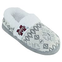 Women's Mississippi State Bulldogs Snowflake Slippers