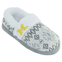 Women's Michigan Wolverines Snowflake Slippers