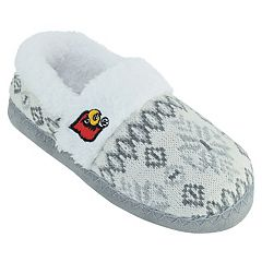 Women's Louisville Cardinals Snowflake Slippers