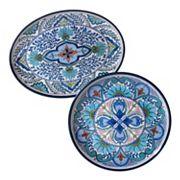 Certified International Talavera 2 pc Platter Set