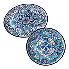 Certified International Talavera 2 pc Platter Set